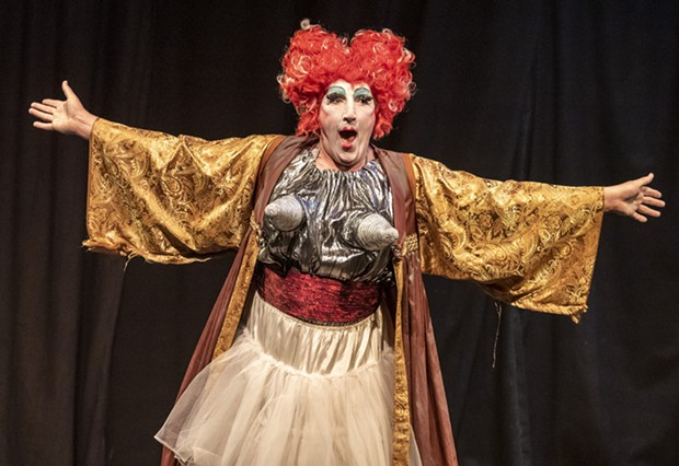 Lady Momma Alicia Star (James Peck) on the Playhouse stage. - PHOTO BY MARK LARSON