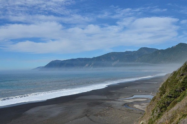 Black Sands Beach, north of Shelter Cove. - FILE