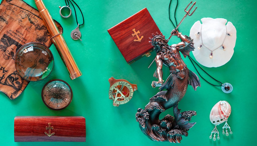 Maritime treasures and fisheye jewelery. - AMY KUMLER