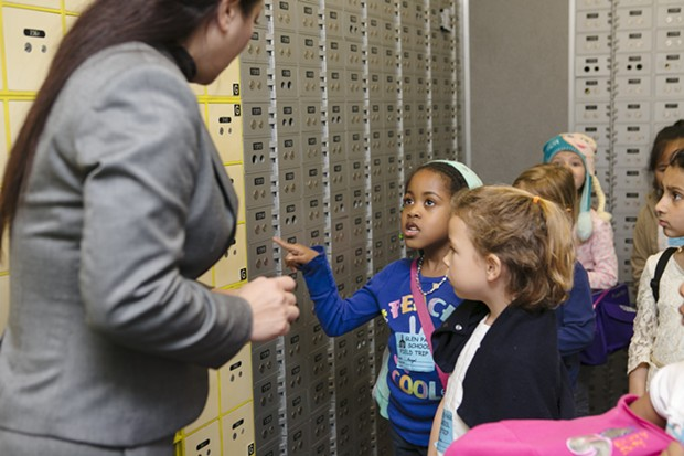 San Francisco kindergartners take a field trip to the bank in 2016 as part of the city's Kindergarten to College savings program. - KARA BRODGESELL COURTESY OF THE SAN FRANCISCO TREASURER'S OFFICE