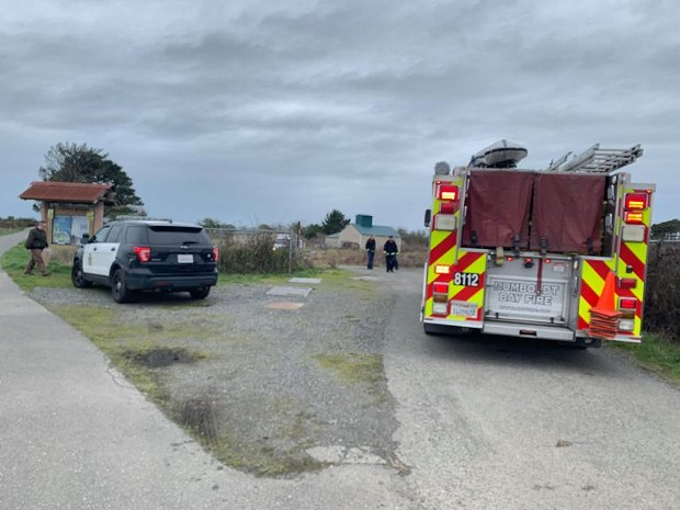 EPD and Humboldt Bay Fire at the scene. - MARK MCKENNA