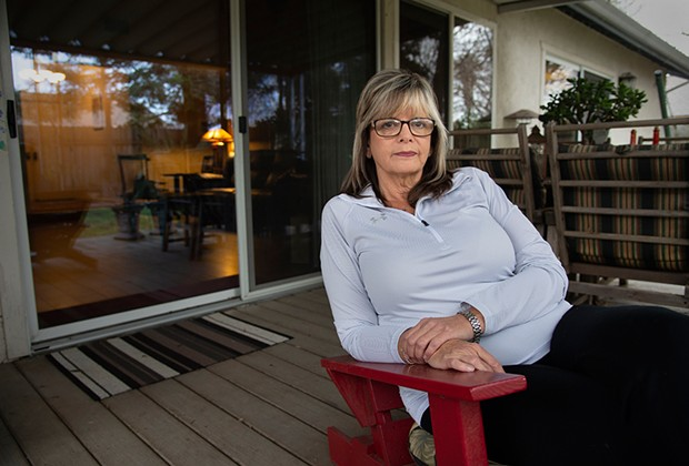 Joanna Jurgens reflects on her son Jeffrey, who has struggled with mental illness and is now living at Atascadero State Hospital after stealing a car. - PHOTO BY RANDY PENCH FOR CALMATTERS