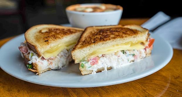 The ephemeral grilled crab sandwich. - PHOTO BY ZACH LATHOURIS