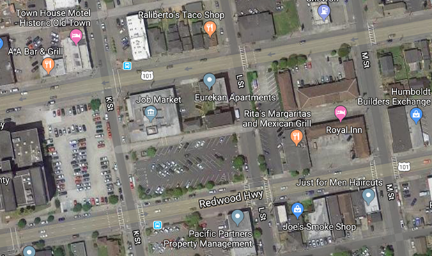 Caltrans wants to put signals at the intersections of Fourth and Fifth streets with L Street. - GOOGLE MAPS