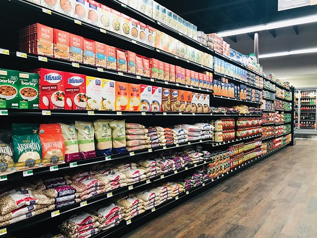Stocked shelves at the new grocery store. - PHOTO BY ALLIE HOSTLER