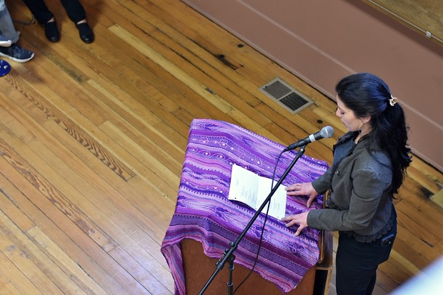 Founder of Conversations About Power and local artist Bianca Lago shares a poem about abuse she experienced growing up. - PHOTO BY MEGAN BENDER