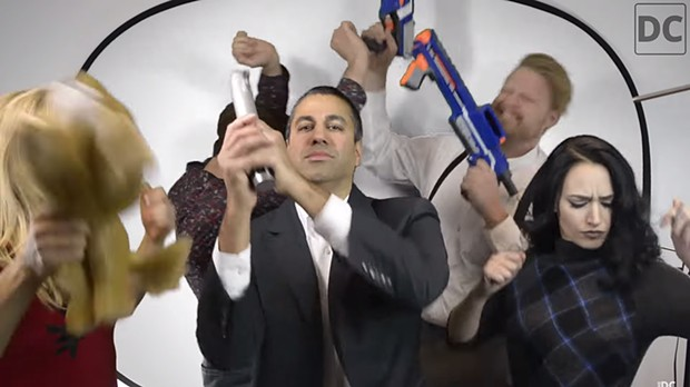 Federal Communications Chair Ajit Pai doing the Harlem Shake. - DAILY CALLER