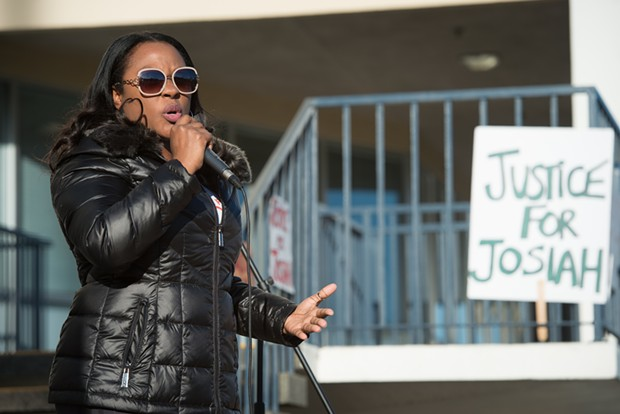 Charmaine Lawson calls on the community to continue to demand justice for her son. - MARK MCKENNA