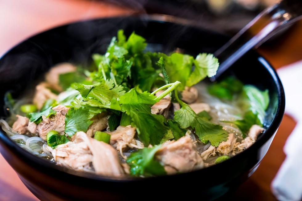 Homemade chicken pho. - ZACH LATHOURIS