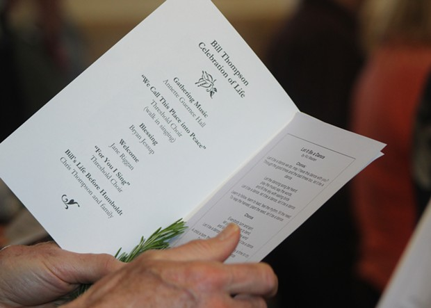 Guests were given Rosemary to accompany their program guide which organizers said is the herb of memory. - PHOTO BY NATALYA ESTRADA