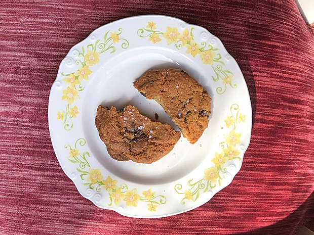 How the salted chocolate chip cookie crumbles. - PHOTO BY JENNIFER FUMIKO CAHILL