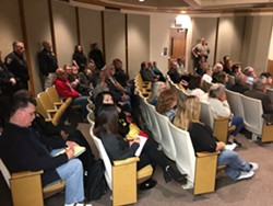 A picture of hearing attendees from Watson's Facebook page. - EPD CHIEF STEVE WATSON