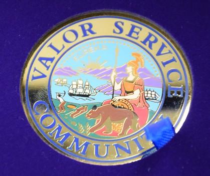 The Valor Service Award. - THADEUS GREENSON