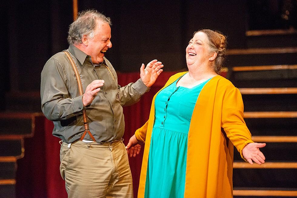 Craig Benson as Herr Schultz and Dianne Zuleger as Fräulein Schneider. - JENNIFER FUMIKO CAHILL
