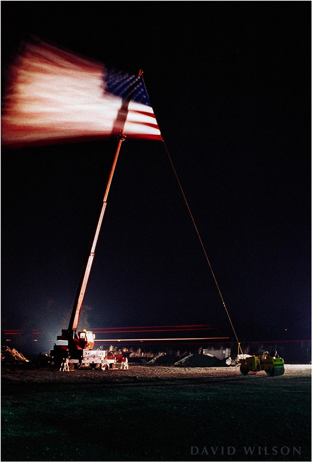 A single exposure of the flag blowing in the wind. - DAVID WILSON