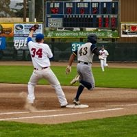 First baseman Aidan Morris reaches for the third out of the inning. - MATT FILAR