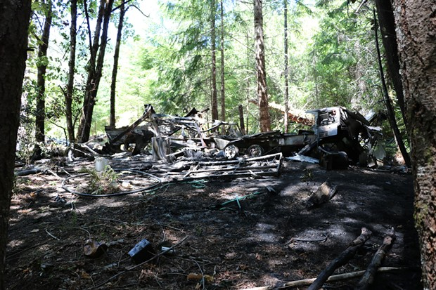 The aftermath of the fire. - CAL FIRE