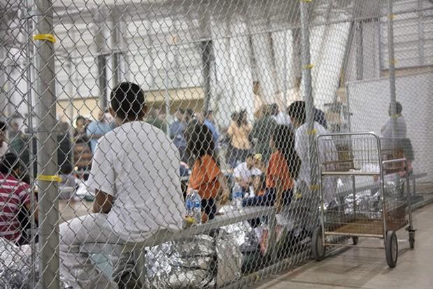 Children at a detention center in McAllen, Texas. - CENTER FOR BORDER PROTECTION