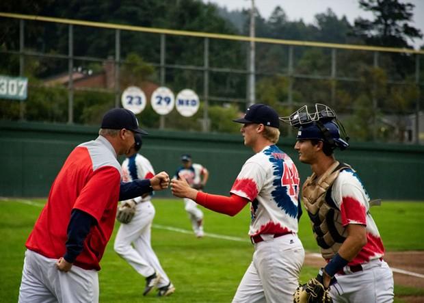 Pitcher of the Year Kyle Pruhsmeier (center) - MATT FILAR