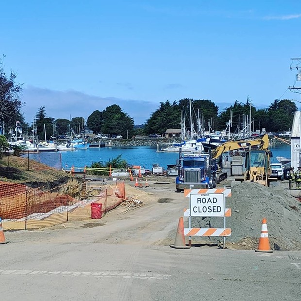 Humboldt Bay Fire is asking the public to stay clear of Waterfront and I Street. - COURTESY OF HUMBOLDT BAY FIRE