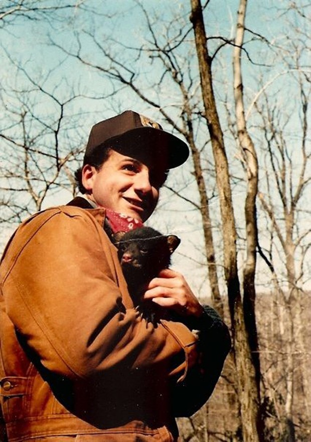 A wildlife biologist, Richard Guadagno is pictured with a bear cub. - PHOTO COURTESY OF DIQUI LAPENTA