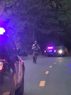 Deputies respond to an armed robbery near Blocksburg this morning. - SUBMITTED
