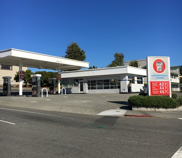 The barren Uniontown gas station in Arcata. - PHOTO BY JASON MARAK
