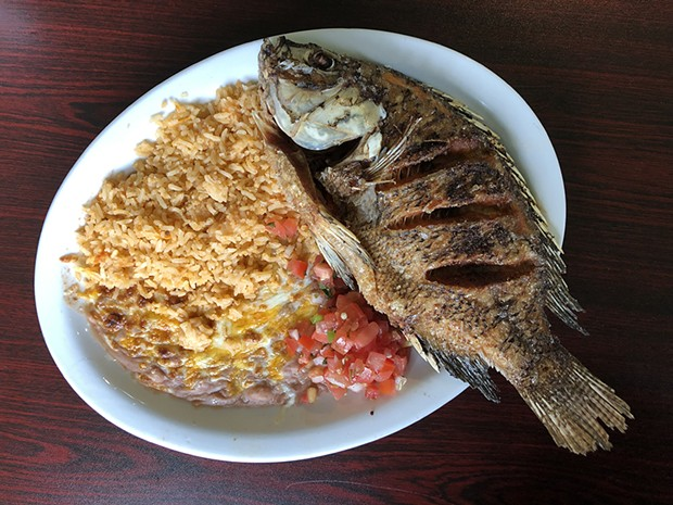 Crispy fried mojarra. - PHOTO BY JENNIFER FUMIKO CAHILL