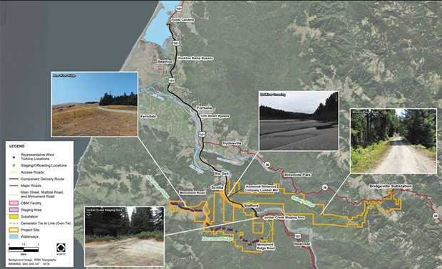 Project Site Boundaries and Surrounding Land - SOURCE: HUMBOLDTGOV.ORG
