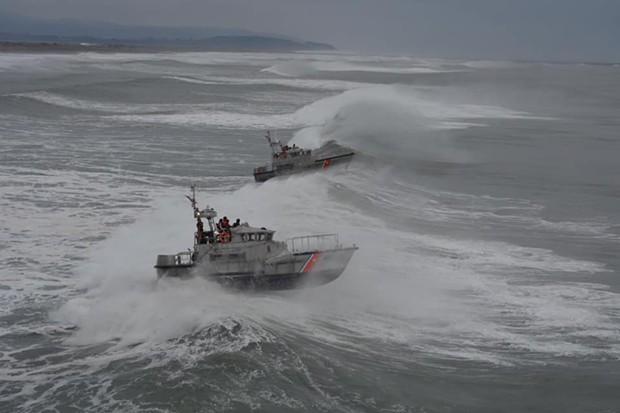 When heavy seas hit the North Coast, the Coasties hit the waves. - U.S. COAST GUARD