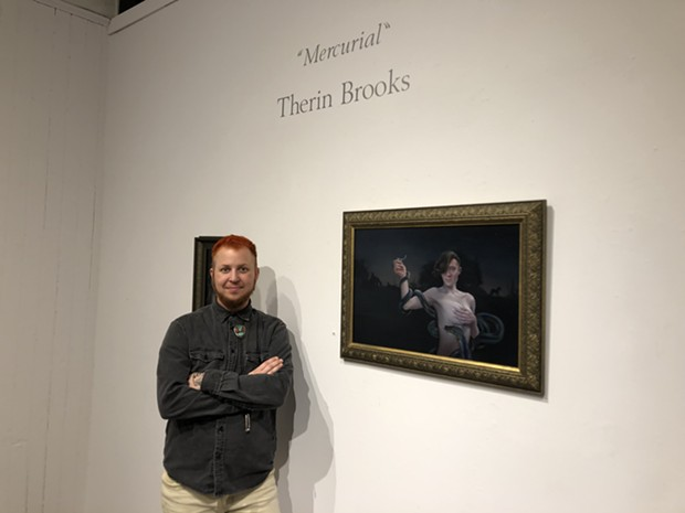 Therin Brooks at their May opening at Piante Gallery. - PHOTO BY JENNIFER FUMIKO CAHILL