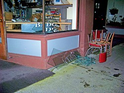 Earthquake damage in Old Town, Eureka - FILE