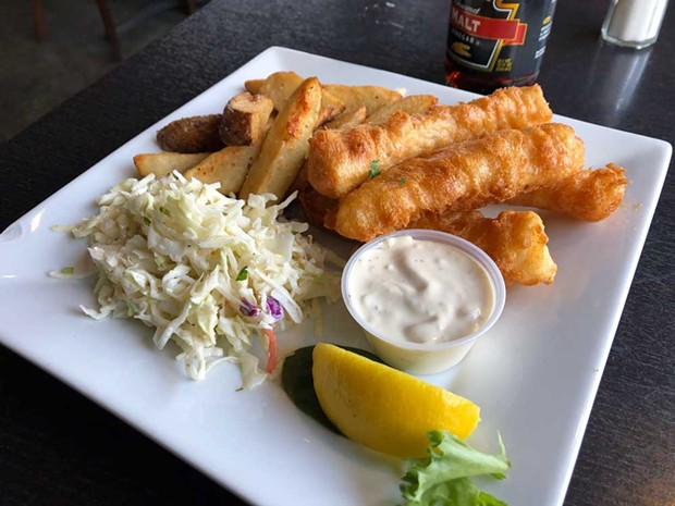 Rock cod fish and chips. - PHOTO BY JENNIFER FUMIKO CAHILL