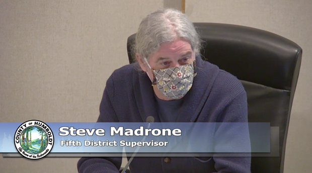 Fifth District Supervisor Steve Madrone. - SCREENSHOT