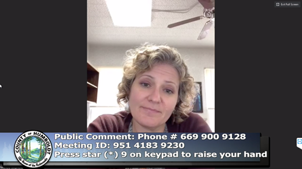 Public Health Director Michelle Stephens - ACCESS HUMBOLDT SCREEN SHOT