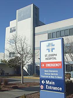 St. Joseph Hospital. - FILE