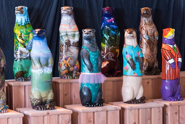 The otter sculptures are ready to be placed in shops, restaurants and other venues when it's safe to do so. - KELLIE BROWN