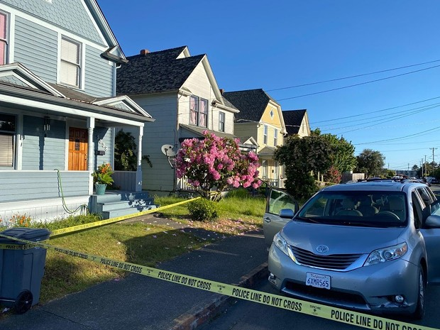 The scene of this morning's shooting. - SUBMITTED