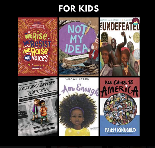 Highlights from the Humboldt County Library's recommended anti-racist reading  for kids. - FACEBOOK