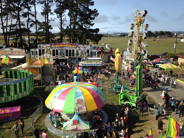 The view from the Ferris wheel at the Humboldt County Fair. - PHOTO BY JENNIFER FUMIKO CAHILL