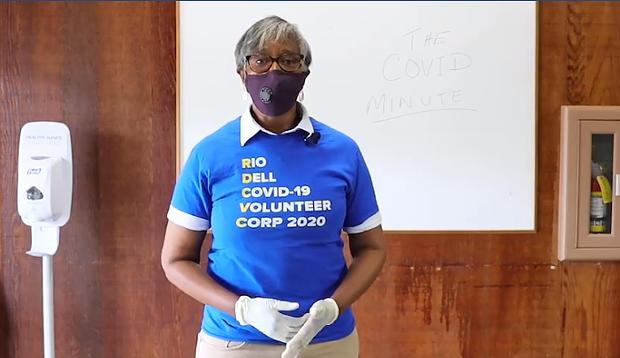 Rio Dell Mayor Debra Garnes talks about the Rio Dell COVID-19 Volunteer Corp on the HumCo COVID Facebook page. - SCREENSHOT