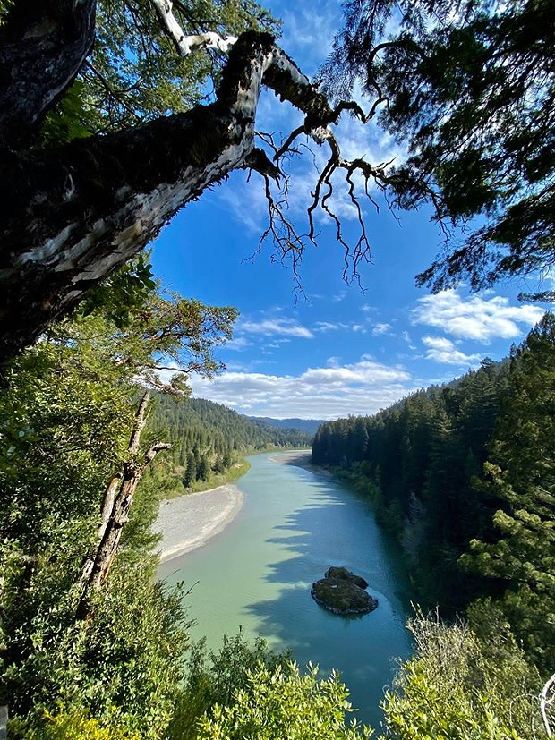 View from above the Eel River. - ROWDY KELLEY/HUMBOLDT GEOGRAPHIC