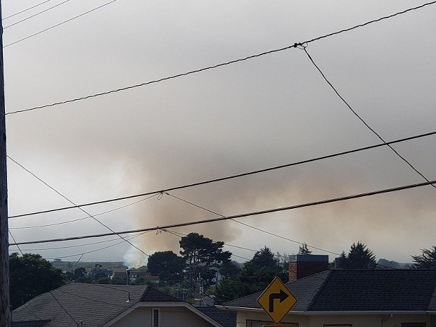 Smoke from a fire on the Samoa Peninsula. - SUBMITTED