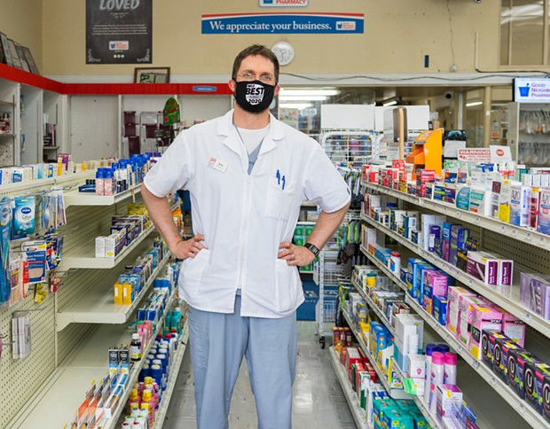 John Backus of Cloney's Pharmacy. - PHOTO BY ZACH LATHOURIS
