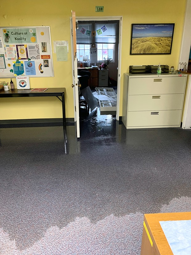Flooding at the public health lab. - DHHS