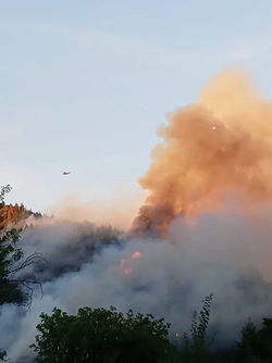 A helicopter fighting the Jones Point Fire. - PHOTO COURTESY OF CARLOS ESTRADA JR.