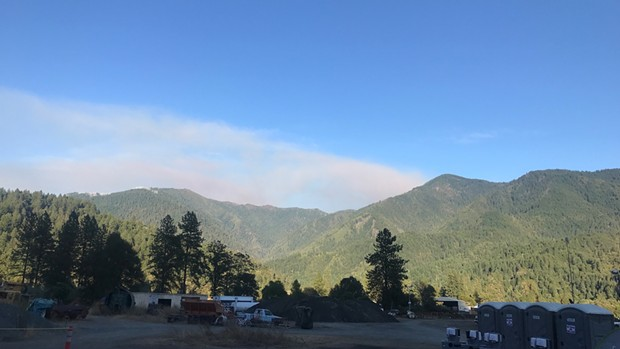 View from the fire base camp in Orleans of the smoke from the complex. - FOREST SERVICE PHOTO BY PUBLIC INFORMATION OFFICER JACOB WELSH