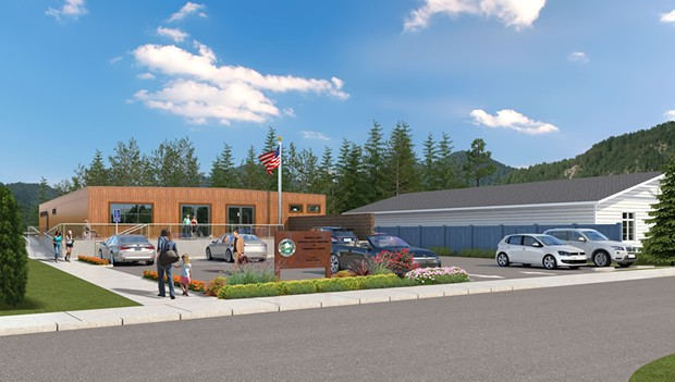 A digital imagining of the Garberville Campus Complex - HUMBOLDT COUNTY