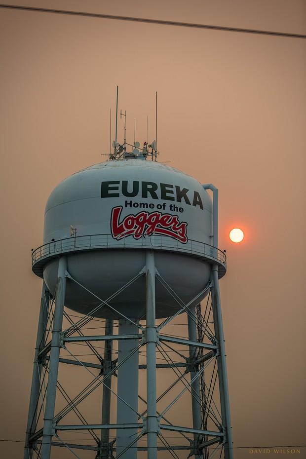 Smoky skies in Eureka. - DAVID WILSON