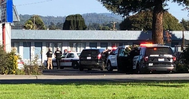 A suspect is barricaded in a Fortuna Motel off South Fortuna Blvd. - MICHAEL ROGERS